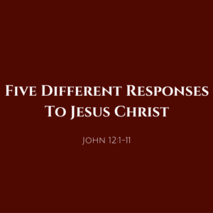 five-different-responses-to-jesus-christ